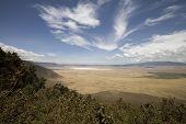 Vieuw Into Ngorongoro Crater Tanzania From The Rim