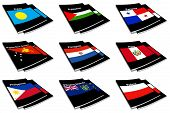 Coleção de livros de bandeira do mundo