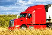 Roten Lieferwagen