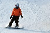 Snowboarder Orange