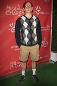 LOS ANGELES - APR 25:  Lucas Neff arrives at the Second Annual Hilarity For Charity benefiting The A