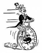 Penny Farthing High Roller - Retro Clip Art Illustration