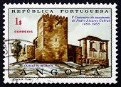 Briefmarke portugiesische Angola 1970 Belmonte Burg