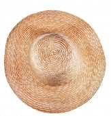 Simple Rural Straw Broad-brim Hat