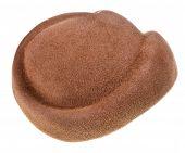 Felt Brown Dressy Hat