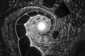 Masonic Initiation Well In Quinta Da Regaleira, Sintra, Portugal.