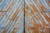 Textured Wooden Gates