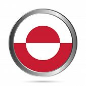 Greenland Flag Button.