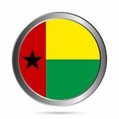 Guinea-bissau Flag Button.