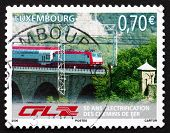 Postage Stamp Luxembourg 2006 Train On Bridge