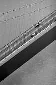 Aerial Of Suspension Bridge