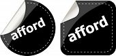 Afford Word Stickers Set, Icon Button