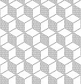 picture of hexagon pattern  - 3d Seamless Cubes Pattern - JPG