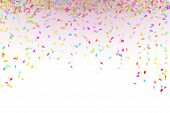 stock photo of confetti  - falling oval confetti with different colors and size - JPG