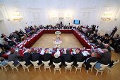 MOSCOW - OCT 10: Meeting of the 10th anniversary report and election of Assembly of International Co