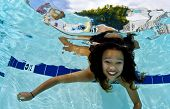Girl Smiling Underwater