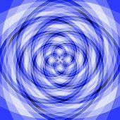 Vertigo blau geometrische