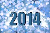 stock photo of midnight  - Happy new year 2014 - JPG