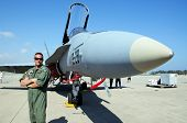 Spanish pilot by F-18 Hornet fighter plane.