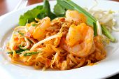 Thai Food, Stir-fried Rice Noodles (pad Thai).