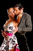 latino dance couple in action - wild samba