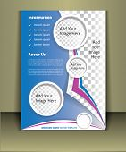 Brochure print template. Well organized brochure print template. Layered eps file. For adding you images in this template Place your images on