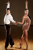 pic of samba  - latino dance couple in action  - JPG