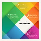 Colorful abstract background for presentations and web design, representing 4 steps or choices,  eps10 vector