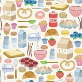 seamless pattern with cooking ingredients. on light background