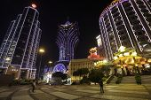 MACAU - OCTOBER 31: Bank of China, casino Grand Lisboa and Lisboa evening on OCTOBER 31,2013 in Maca
