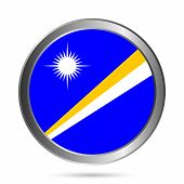 Marshall Islands Flag Button.