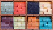 Colorful Soap Bars In The French Provence