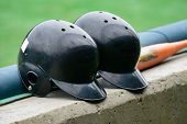 Black Color Baseball Helmets