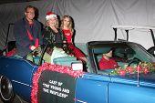 LOS ANGELES - DEC 1:  Doug Davidson, Beth Maitland, Hunter King at the 2013 Hollywood Christmas Parade at Hollywood & Highland on December 1, 2013 in Los Angeles, CA