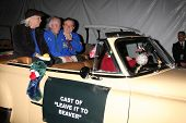 LOS ANGELES - DEC 1:  Tony Dow, Ken Osmond, Jerry Mathers at the 2013 Hollywood Christmas Parade at