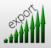foto of macroeconomics  - Chart illustrating export trade growth macroeconomic indicator concept - JPG