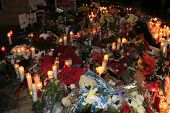 SANTA CLARITA - DEC 1: Fans pay tribute to actor Paul Walker at the site of his fatal car accident o