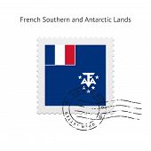 French Southern and Antarctic Lands Flag Postage Stamp.