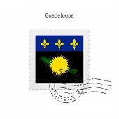 Guadeloupe Flag Postage Stamp.
