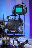 TV NEWS studio with camera