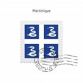 Martinique Flag Postage Stamp.