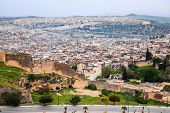 Aerial view of fez in morocco
