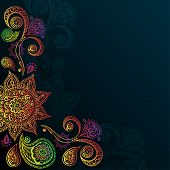 Vintage background with Mandala Indian Ornament.