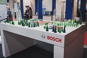 Detail Of Bosch Stand At Solarexpo 2014 In Milan, Italy
