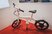 Bicycle On Display At Solarexpo 2014 In Milan, Italy