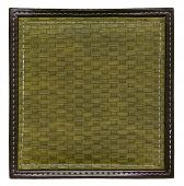 khaki wicker frame isolated