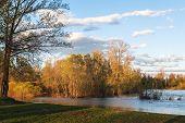 Ural Nature On The River Lemeza, South Ural Region