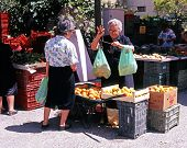 Outdoor market stall, Albox, Spain.