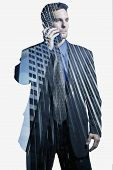 Businessman on cellular phone