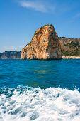 Isla del descubridor in Cabo Nao Cape at White coast Alicante Spain